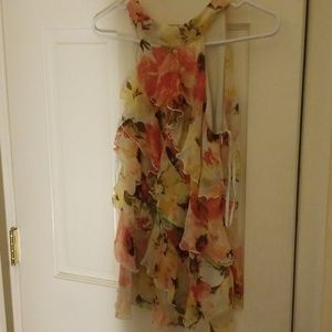A.byer Ruffle top size L with side zipper & lining